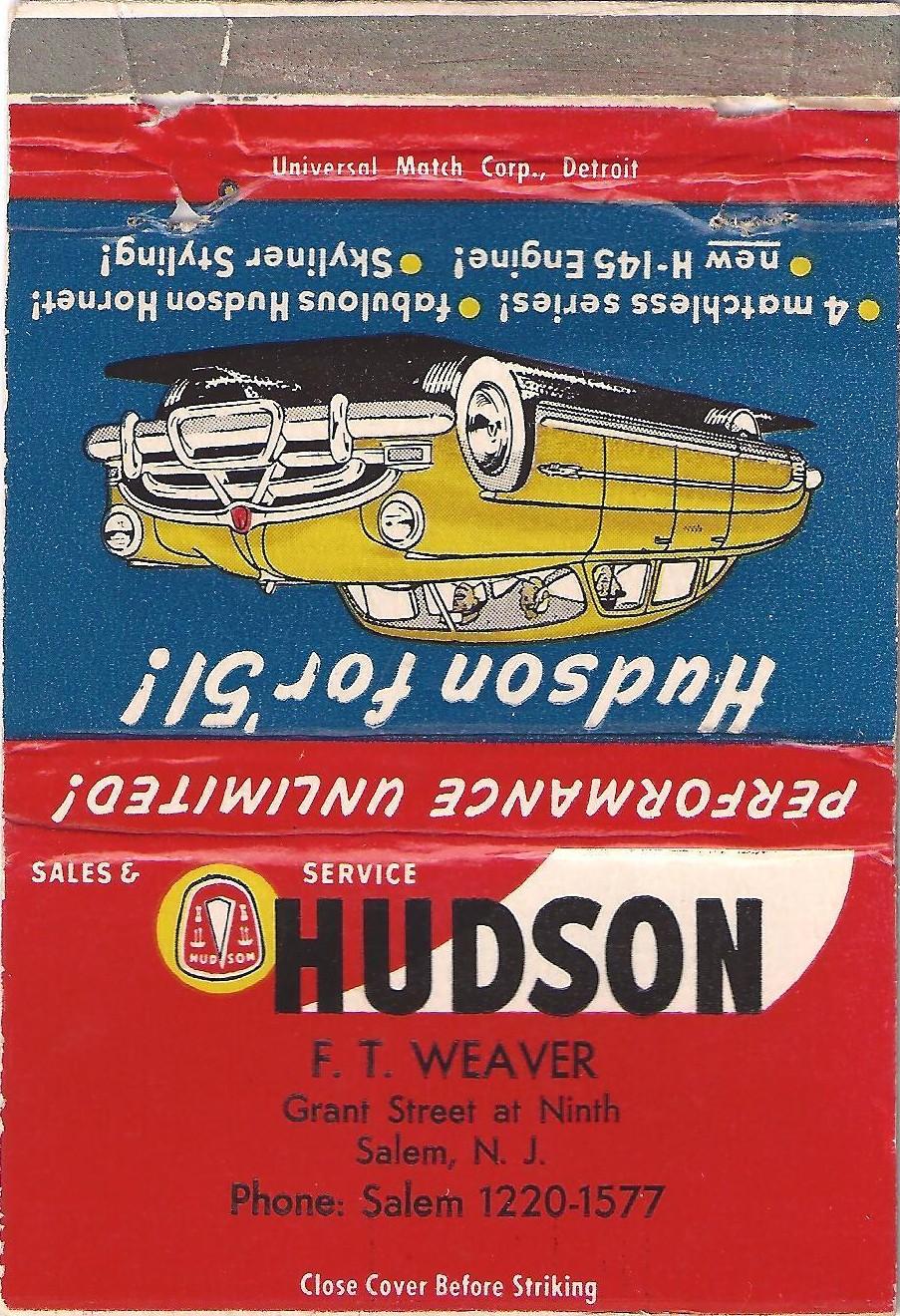 Hudson Motor car Company Dealerships N