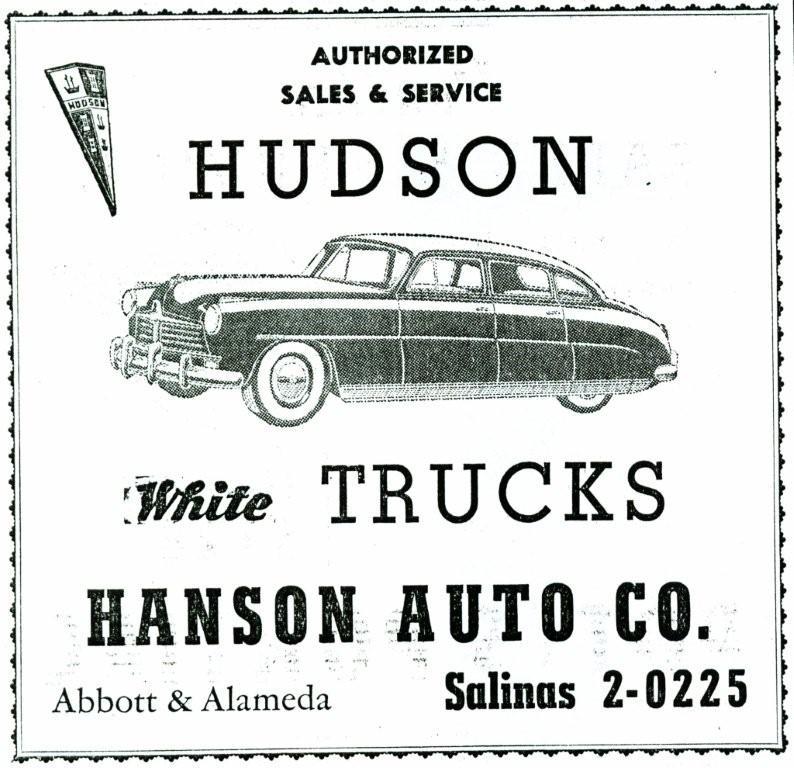 Hudson motor car company dealerships a c for Hanson motors used cars