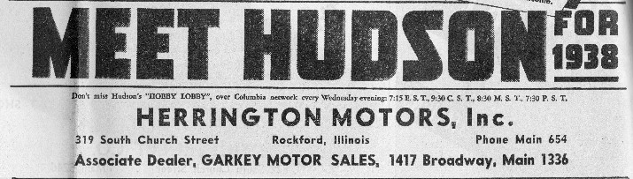 Hudson Motor Car Company Dealerships D L