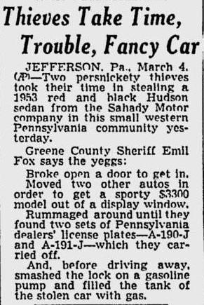 Indiana Pa Car Dealerships >> Hudson Motor car Company Dealerships P-Z