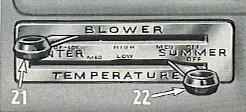 Weather-Control Blower Lever