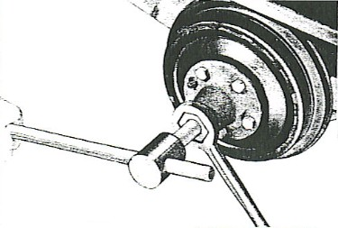 Figure 3 - Remove wheel hubs.